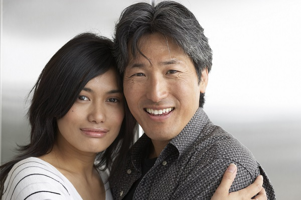 Asian American couple