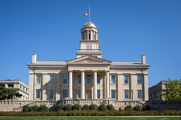 Old Capitol building at the University of Iowa